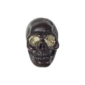 Charlie Skull Knob by Matthew Studios with Pyrite Eyes in Dark Bronze
