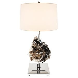Draper Table Lamp by Matthew Studios in Smokey Quartz