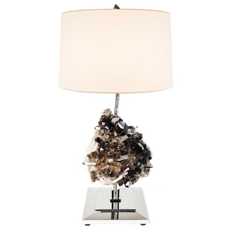 Draper Table Lamp by Matthew Studios in Smokey Quartz