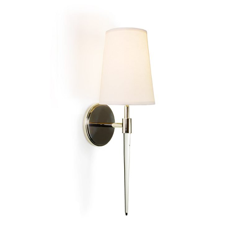 Alvey Sconce by Matthew Studios in Lucite and Polished Nickel