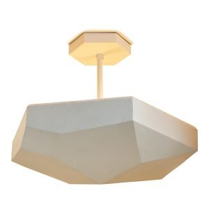 Eira Semi Flush Mount by Matthew Studios in Plaster