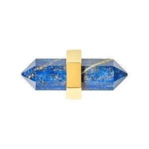 Freya Small Pull by Matthew Studios in Lapis Lazuli and Polished Brass.