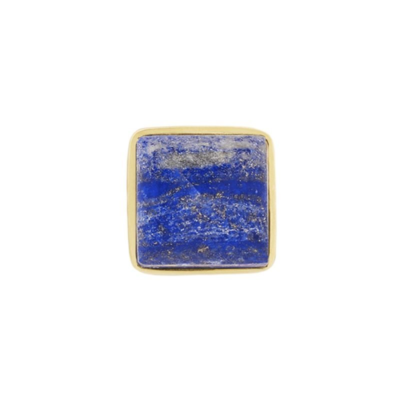 Hayden Small Knob by Matthew Studios in Lapis Lazuli and Polished Brass