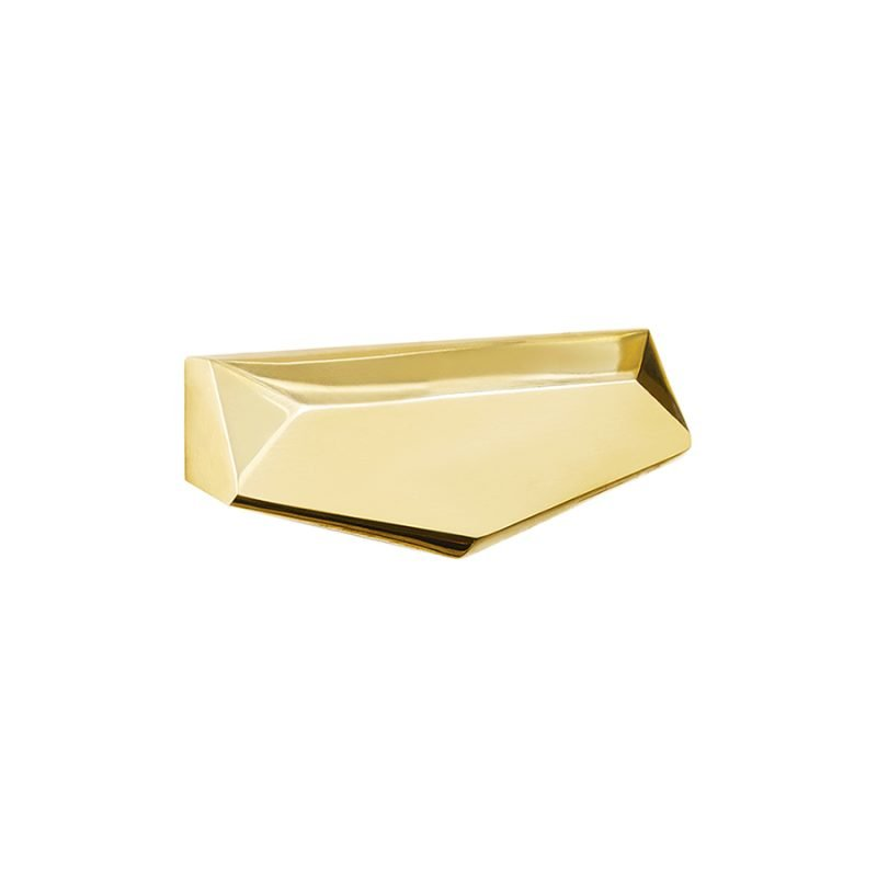 Harper Bin Pull by Matthew Studios in Polished Brass