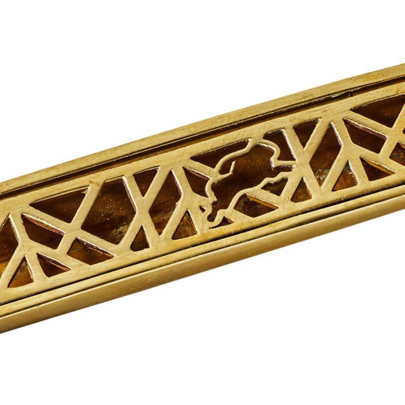 Harper Pull Grille Detail by Matthew Studios in Polished Brass