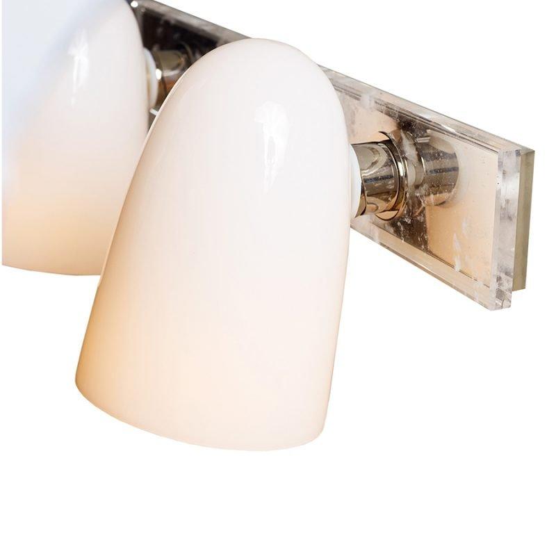 Ines Double Vanity Light by Matthew Studios in Clear Quartz