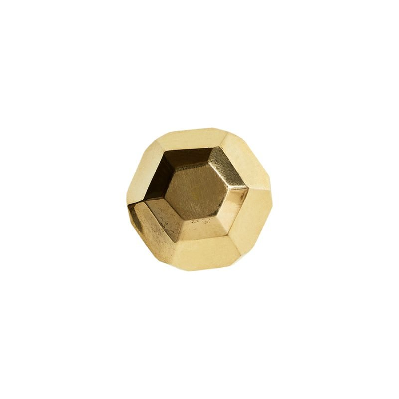 Poly Orb Knob by Matthew Studios in Polished Brass